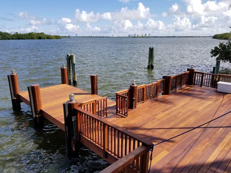 Custom Carpentry Docks in Miami, FL