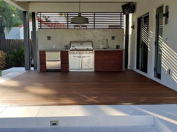 Custom Carpentry Outdoor BBQ